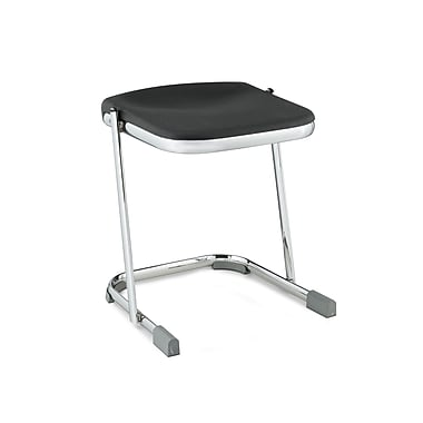 NPS® 6600 Series Elephant Z-Stool 18in. Blow Molded Heavy Duty Chrome Plated Steel Stool, Black