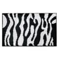 InterDesign® 34in. x 21in. Microfiber Polyester Zebra Bath Rug, Black/White