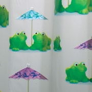 "InterDesign® 72"" x 72"" Frogs EVA Shower Curtain"