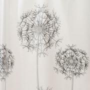 """InterDesign® 72"""" x 72"""" Allium EVA Vinyl Shower Curtain, Gray/Black"""