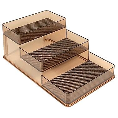 InterDesign® Woven Steel Wire Twillo Stadium Spice Rack 1, Bronze/Sand