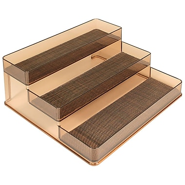 InterDesign® Woven Steel Wire Twillo Stadium Spice Rack 2, Bronze/Sand