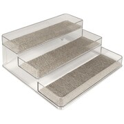 InterDesign® Woven Steel Wire Twillo Stadium Spice Rack 2, Metallico/Clear