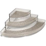 InterDesign® Woven Steel Wire Twillo Stadium Corner Spice Rack, Metallico/Clear