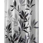 "InterDesign® 72"" x 72"" Leaves Polyester Shower Curtain, Gray"