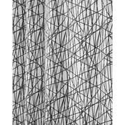 "InterDesign® 72"" x 72"" Abstract Polyester Shower Curtain, Black/White"