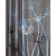 "InterDesign® 72"" x 72"" Thistle Polyester Shower Curtain, Gray/Blue"
