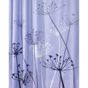 "InterDesign® 72"" x 72"" Thistle Polyester Shower Curtain, Purple/Gray"