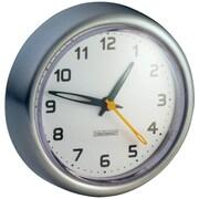 InterDesign® 43580 Forma Suction Clock, Silver