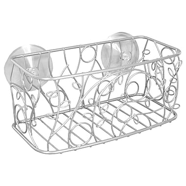 InterDesign® Twigz Suction Basket, Silver