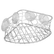 InterDesign® Twigz Suction Corner Basket, Silver