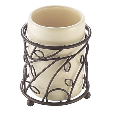 InterDesign® Unique Design Bronze Twigz Tumbler, Vanilla