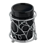 InterDesign® Unique Design Silver Twigz Tumbler, Black