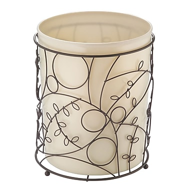 InterDesign® Twigz Waste Can, Bronze/Vanilla