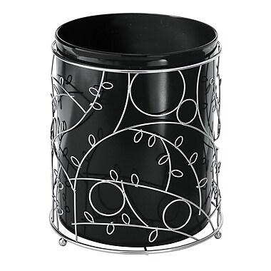 InterDesign® Twigz Waste Can, Silver/Black