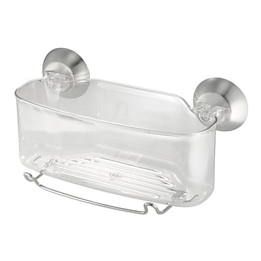 InterDesign® Forma Power Lock Suction Shower Basket, Clear
