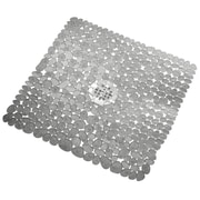 InterDesign® 22 x 22 Pebblz Square Shower Mat, Clear