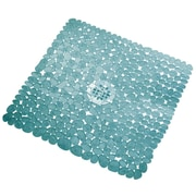 InterDesign® 22 x 22 Pebblz Square Shower Mat, Blue