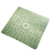 InterDesign® 22 x 22 Pebblz Square Shower Mat, Green