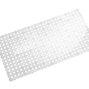 "InterDesign® 27"" x 14"" Orbz Bath Mat, Clear"