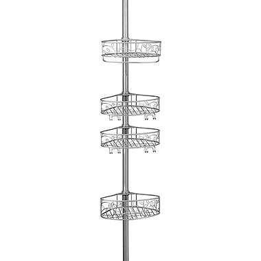 InterDesign® Twigz Tension Shower Caddy, Silver