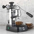 La Pavoni Professional Espresso Machine with Base; Black