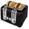 Black & Decker 4-Slice Toaster in Black