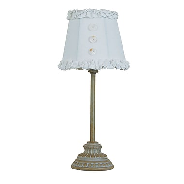 AHS Lighting Chanel Accent Lamp With White Shade, Taupe/White