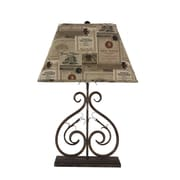 AHS Lighting Deux Scrolls Accent Lamp With Wine Label Shade