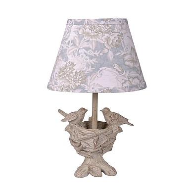 AHS Lighting Spring Blessings Lamp With Toile Shade