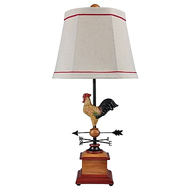 AHS Lighting Mornin' Table Lamp With Empire White Fabric Shade
