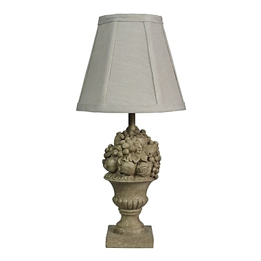 AHS Lighting Frutta Accent Lamp With Linen Fabric Shade