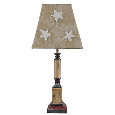 AHS Lighting Independence Table Lamp With Tan Star Shade