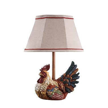 AHS Lighting Carlin Accent Lamp With Tan Fabric Shade