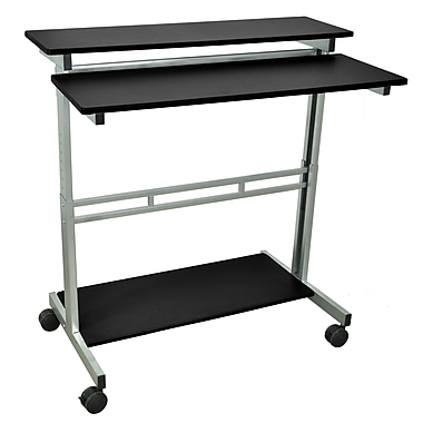 Luxor 40in.W x 23.6in.D Mobile Stand-Up Computer Desk Presentation Cart