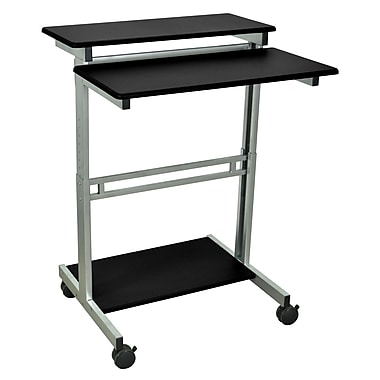 Luxor 31.5in.W x 23.6in.D Mobile Stand-Up Computer Desk Presentation Cart