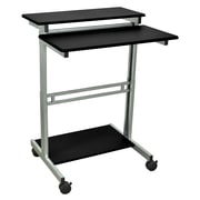 "Luxor 31.5""W x 23.6""D Mobile Stand-Up Computer Desk Presentation Cart"