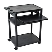 "Luxor 32 3/4"" Mobile Presentation Cart, Black"