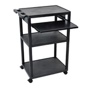 "Luxor 32 1/4"" Mobile Presentation Cart, Black"