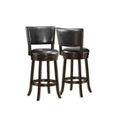 Monarch Leather Swivel Counter Stool, Black