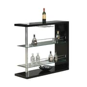 "Monarch 44"" x 16"" x 47"" Metal Bar Table, Black Glossy"