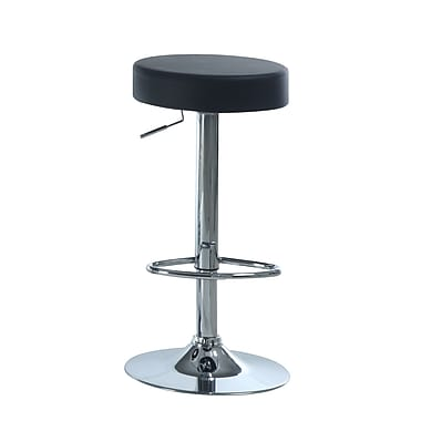 Monarch Chrome Metal Hydraulic Lift Barstool, Black