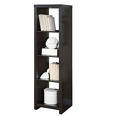 Monarch Hollow Core Room Divider Bookcase, Cappuccino