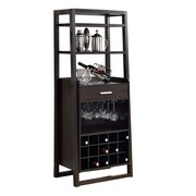 "Monarch 60""H Ladder Style Bar Unit, Cappuccino"