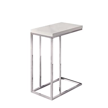 Monarch Hollow Core Metal Accent Table, Chrome, Each (I3008MSI)