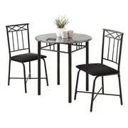 Monarch Metal 3 Piece Bistro Set, Grey/Charcoal