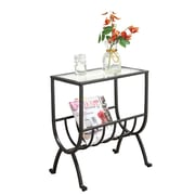 """Monarch 23"""" x 12"""" x 19"""" Tempered Glass Magazine Table, Clear"""
