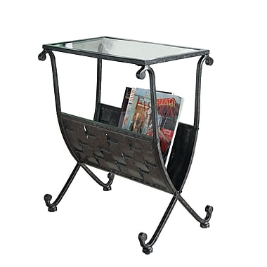Monarch 23 x 13 x 19 tempered glass magazine table for Table 19 review
