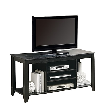 Monarch 48in. Marble Top TV Console, Black/Gray
