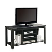 "Monarch 48"" Marble Top TV Console, Black/Gray"